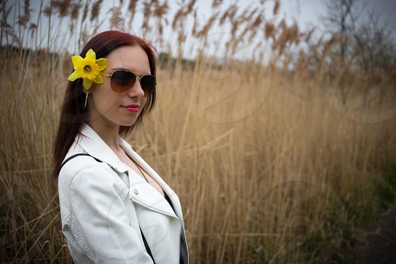 Flower in Hair photo