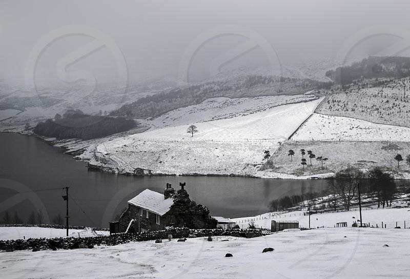 Farmhouse In Winter. photo
