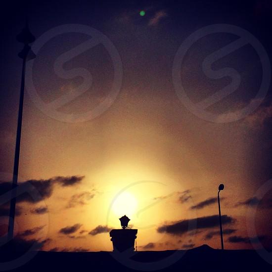 outdoor lantern silhouette photo
