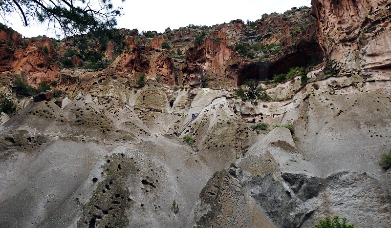 Climbing To Alcove House Bandelier National Monument New Mexico photo