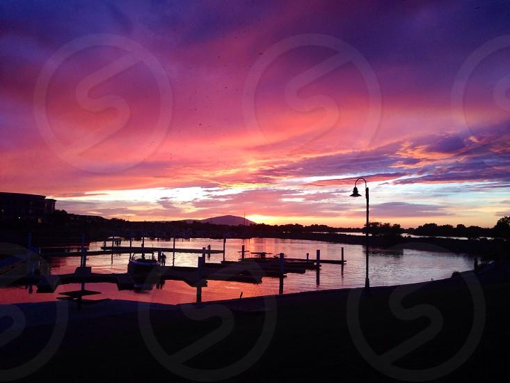 Columbia Basin Sunset photo