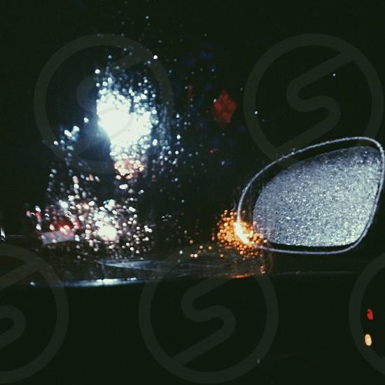 black car side mirror photo