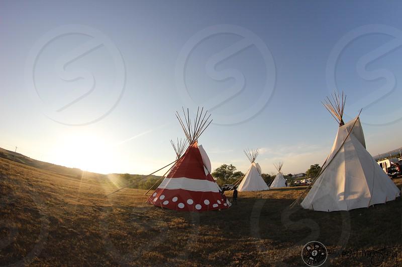 Native american tepee photo