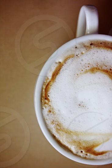 Pretty fall evening foamy latte  photo