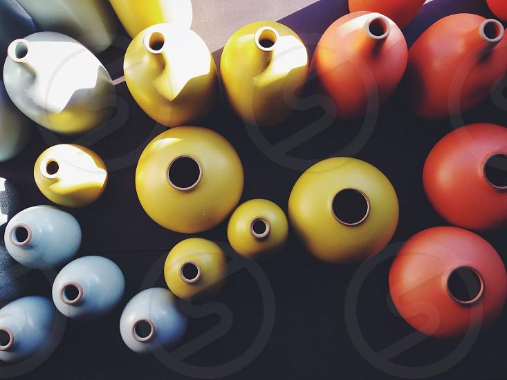 yellow ceramic jar photo