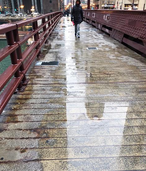 Rainy; weather; Chicago; spring; reflections; city photo
