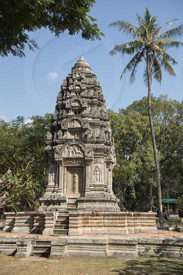 the Wat Damnak Temple in the city of Siem Reap in northwest of Cambodia.   Siem Reap Cambodia November 2018 photo