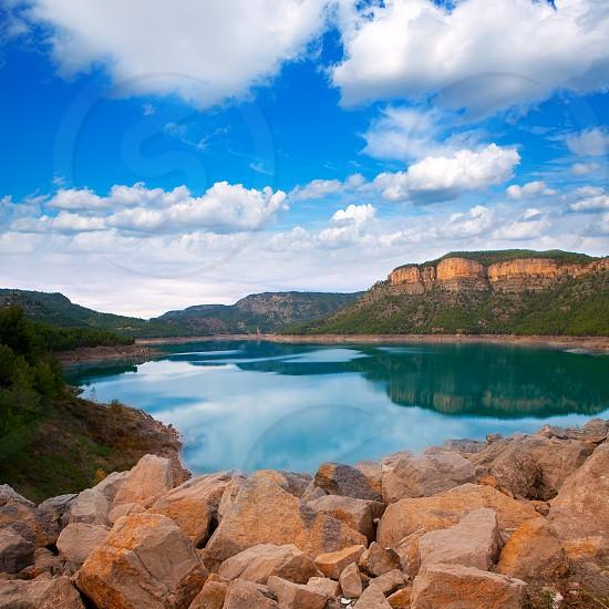 Embalse Arenos in Puebla de Arenoso Castellon Mijares river Spain photo