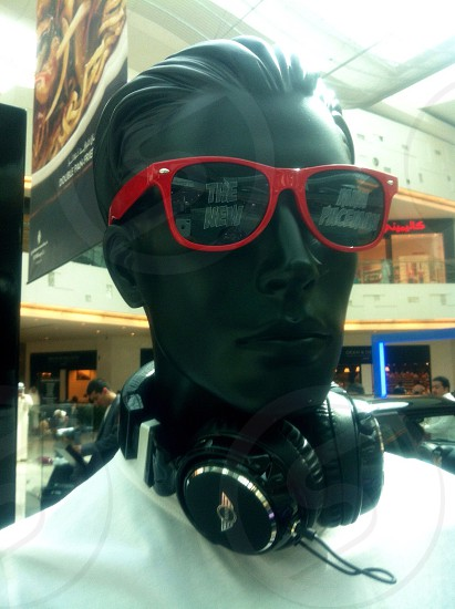 LisAm red eyeglass mannequin display  photo