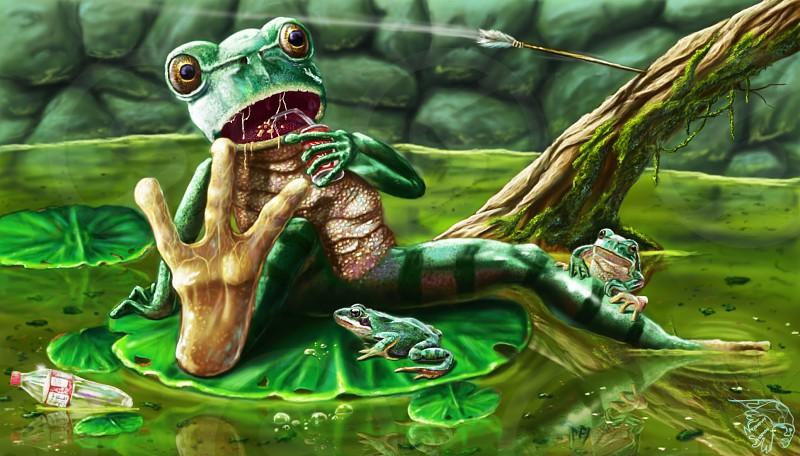My digital art design drawing painting creative 2dfrog illustration color artist photoshopcreate photo