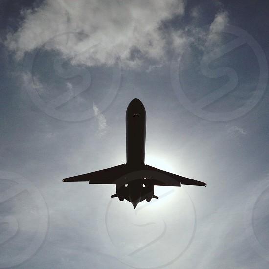 airplane silhouette  photo