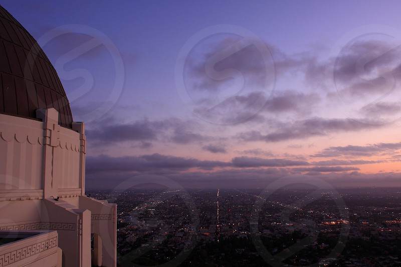 A view of Los Angeles from Griffith observatory photo