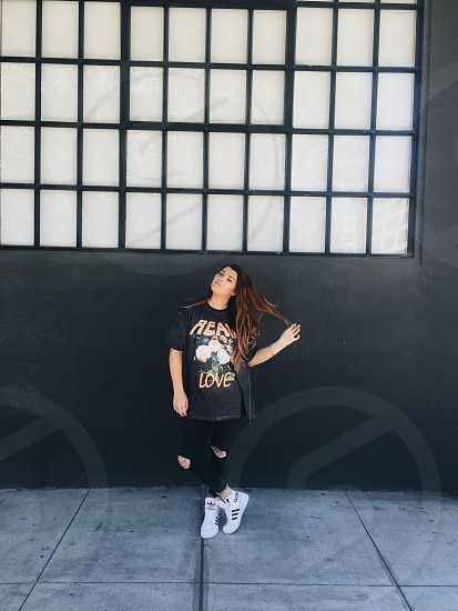 Girl grunge model street style hipster hair fashion   photo