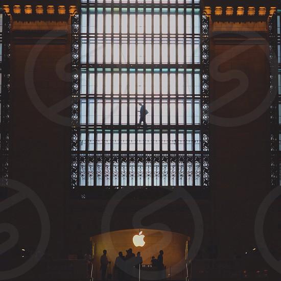 white apple logo photo
