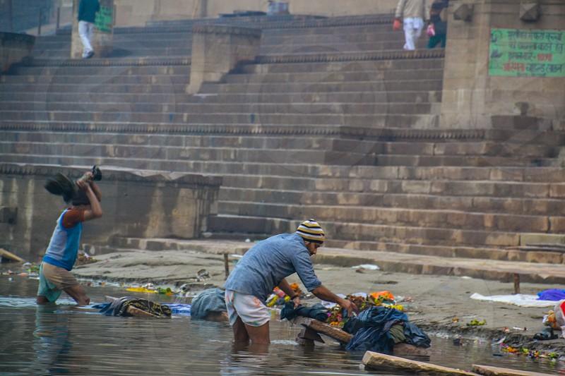 Dhobi Ghat in Varanasi India photo