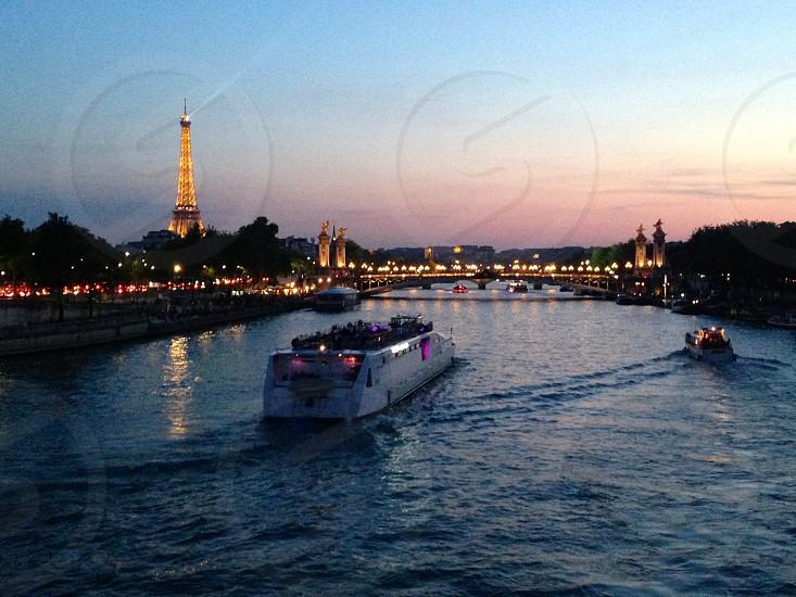 Sunset Paris photo