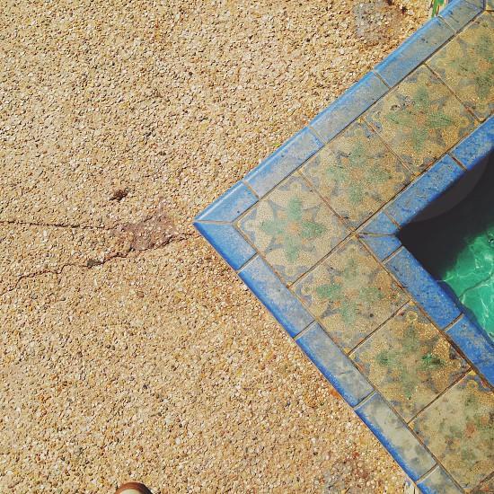 blue tile fountain photo