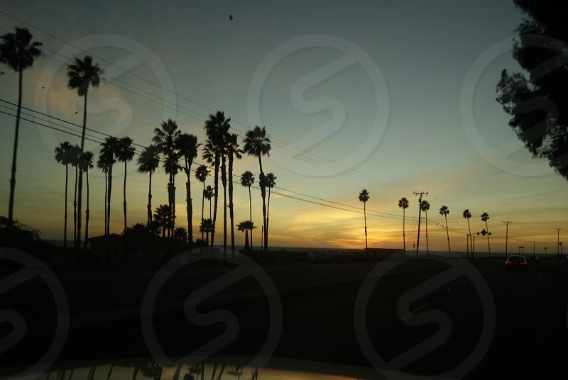 CA sunset  photo