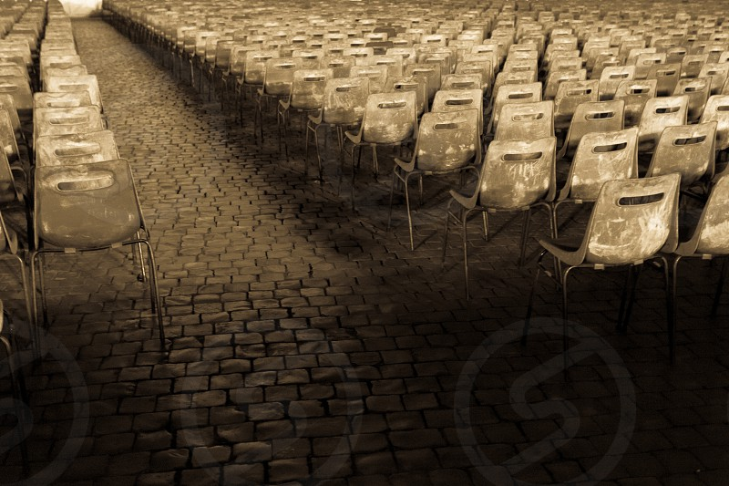 empty chairs photo