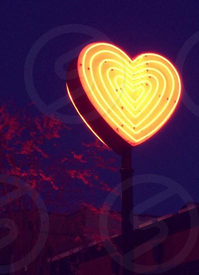 heart shaped lamp post photo