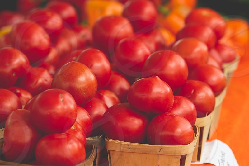Farmers market produce photo