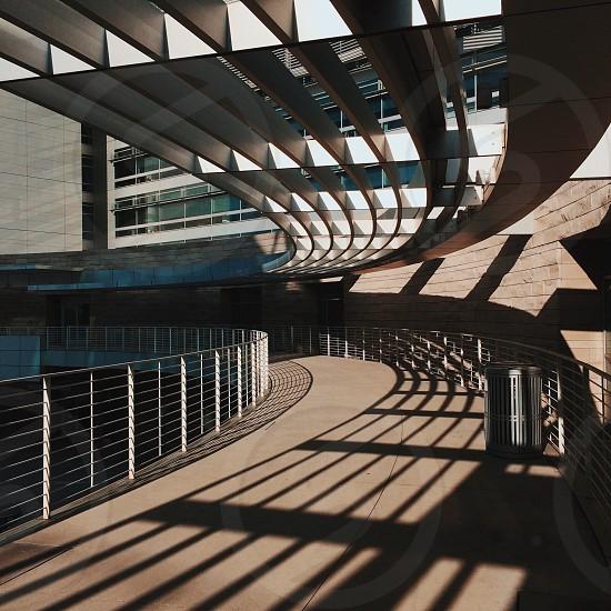 Elevated walkway at San Jose's city hall. photo