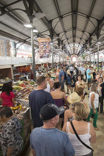 the Markethall in the town of Loule in the Algarve in the south of Portugal in Europe. photo