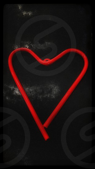 heart red iron rustic black rough background portrait view photo