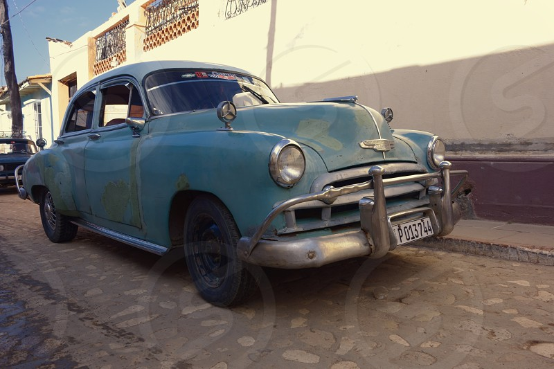 1949 Chevy captured in the streets of historic Trinidad Cuba in December 2013.  photo