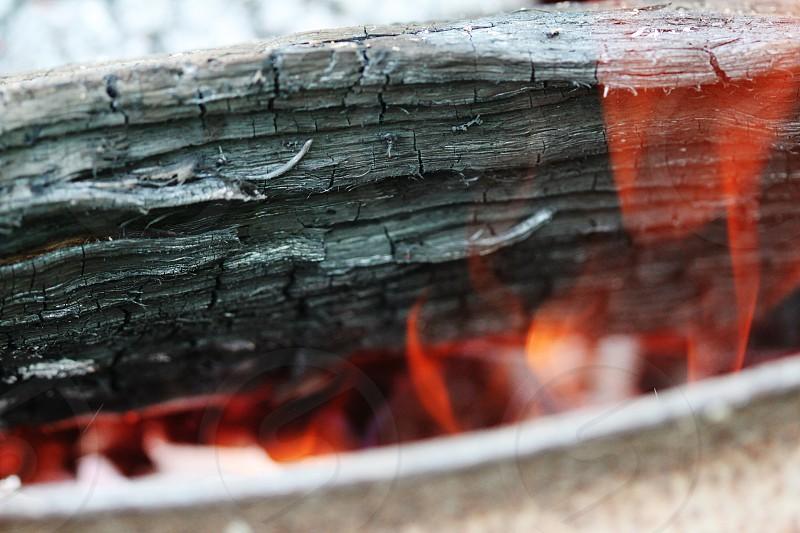 Hot  bonfire and flames photo