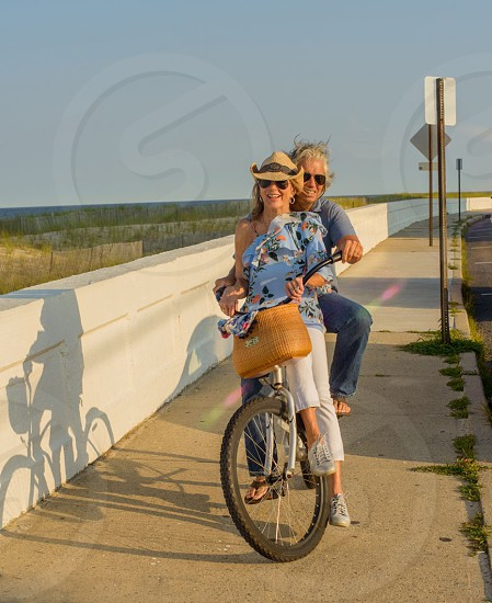 Biking active senior summer playful photo