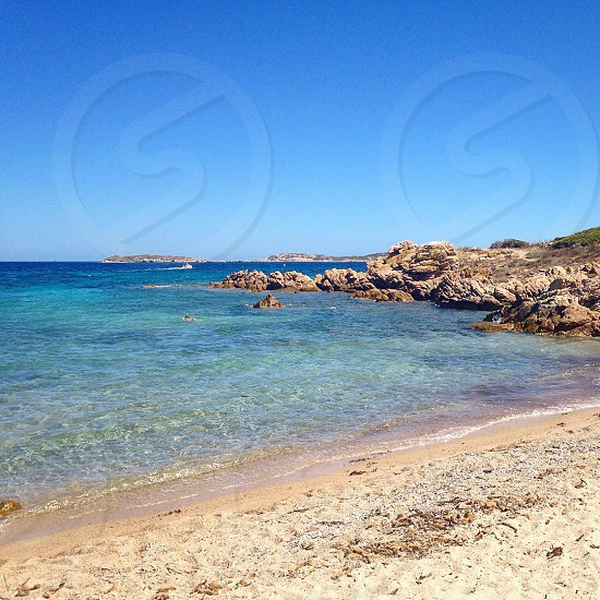 Sardegna Sardinia Costa smeralda Italia  Italy  Sardinia beach  island photo