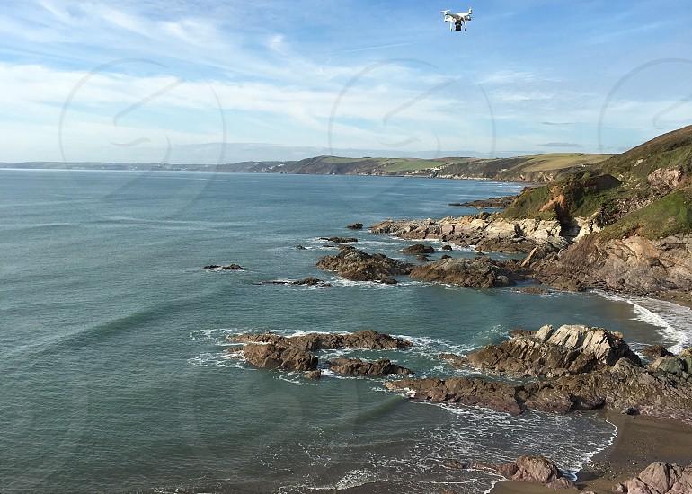 Drone beach Aerial photo