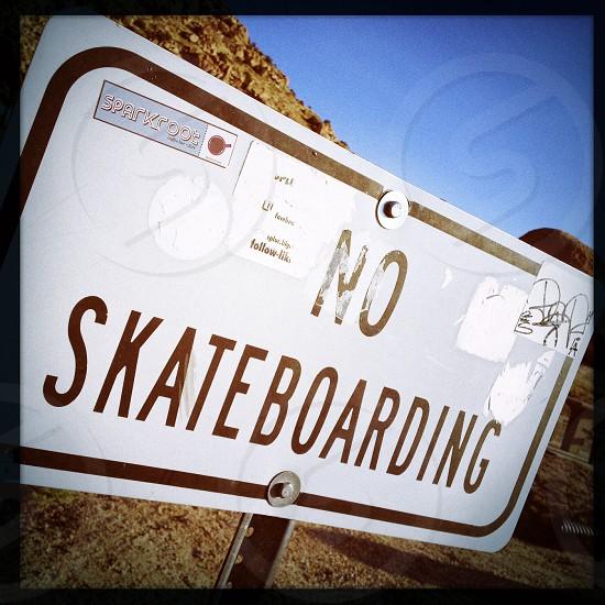No Skateboarding photo