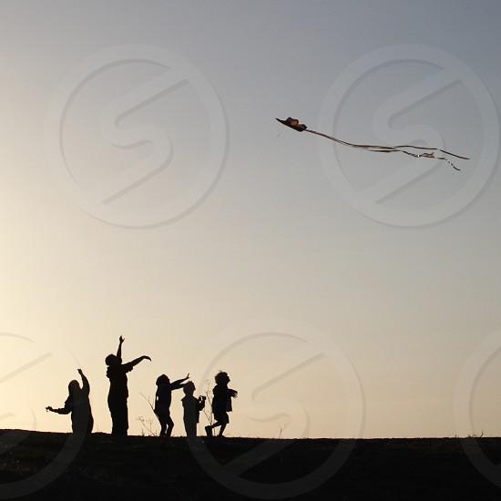 Family fun with a kite photo