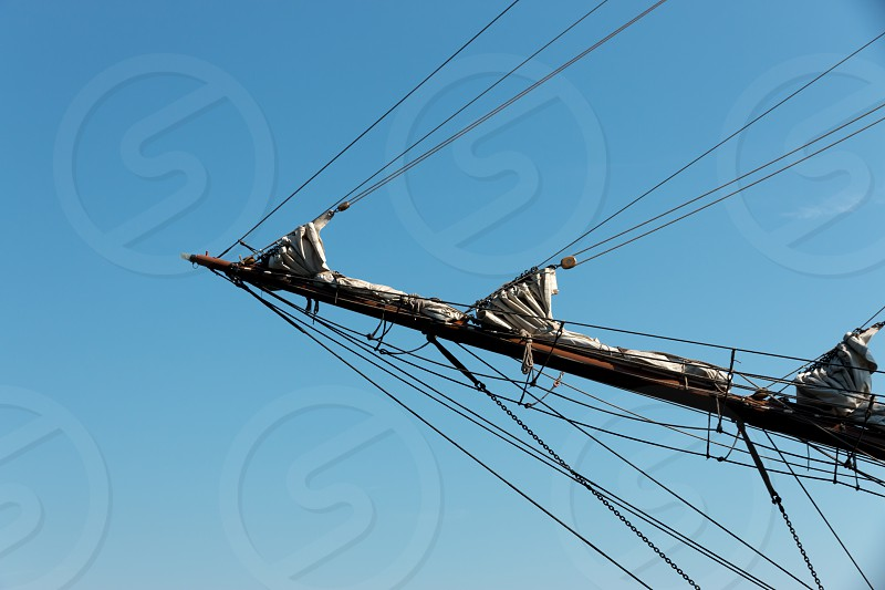 The bowsprit of a sailing ship photo