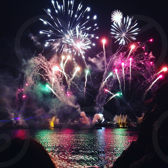 Fireworks Disney world. Epcot #travels photo