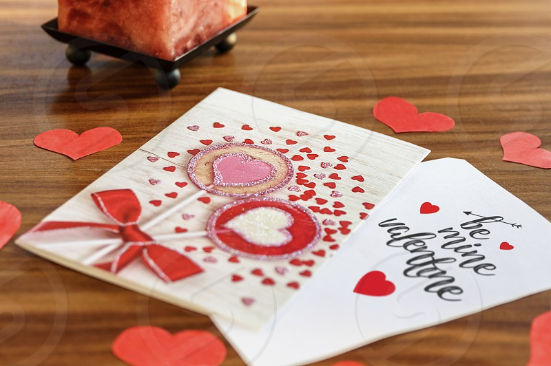 Love card for Valentine`s Day photo