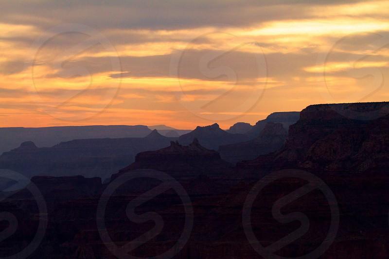 Grand Canyon sunset layers photo