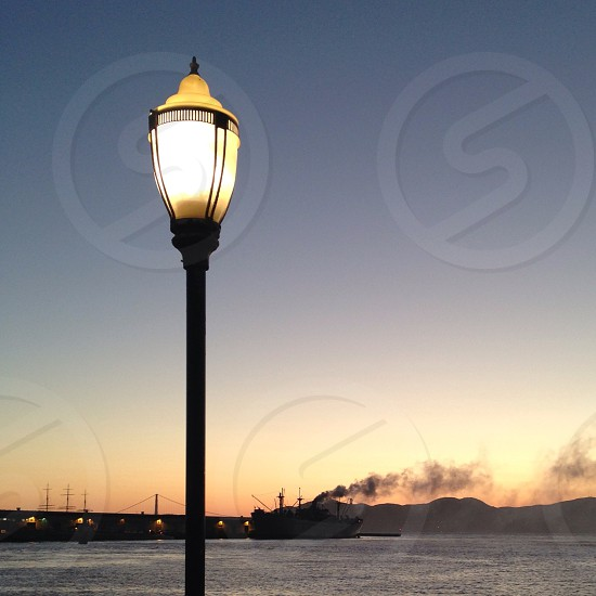 white street lamp photo