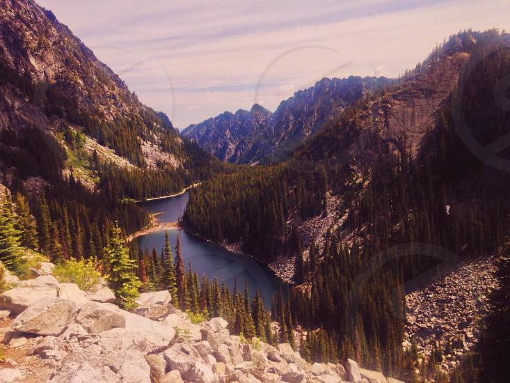 Mountain Hills Lake Wilderness Valley. photo