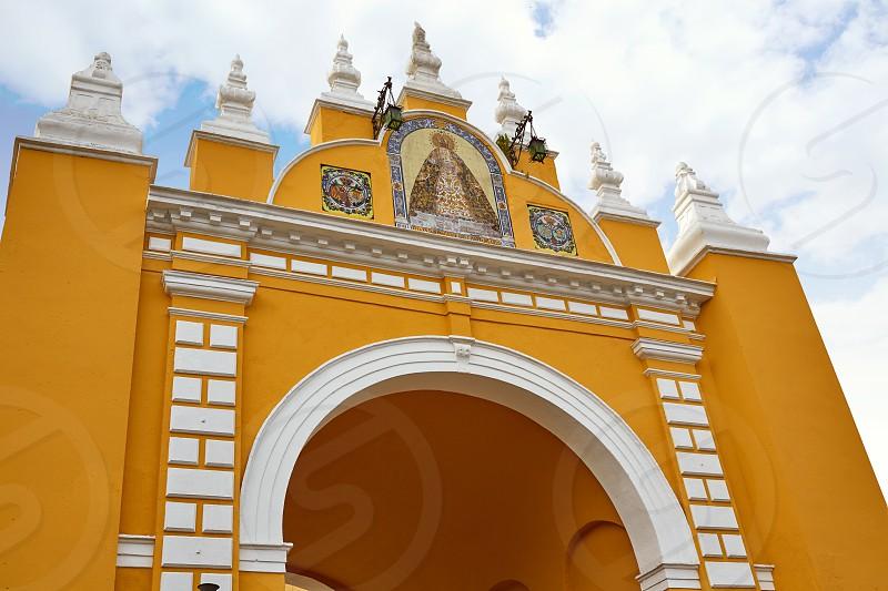 macarena door arch in seville spain photo