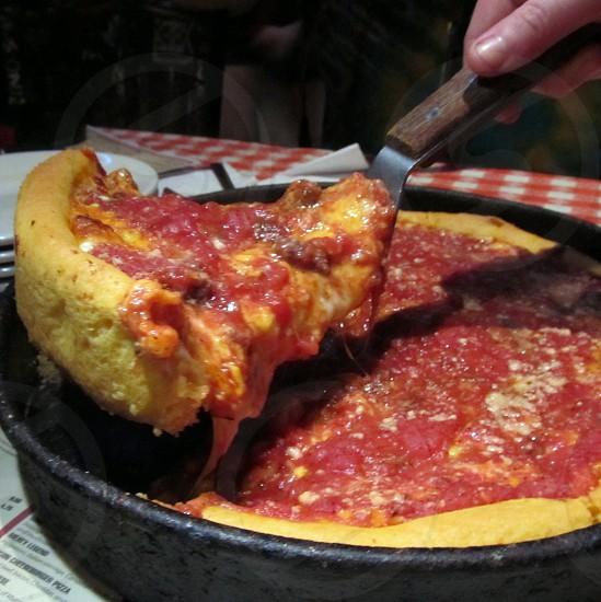 Stuffed Chicago style pizza photo