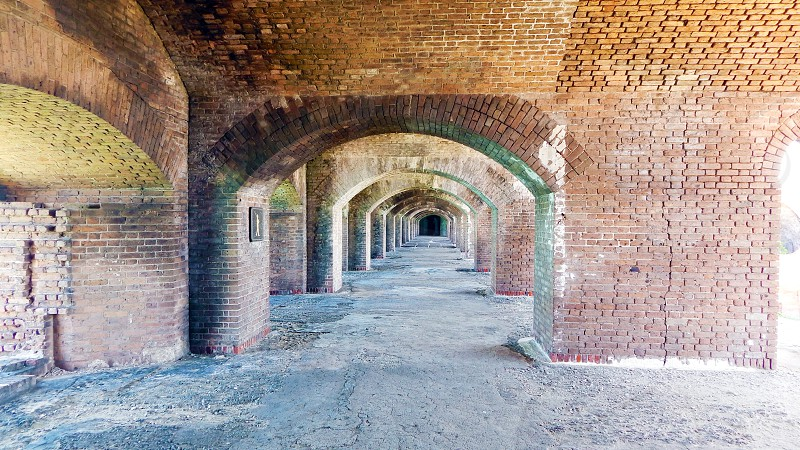 Civil War Prison Fort Jefferson at Dry Tortugas National Park in Florida photo