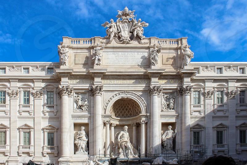 Europe Italy Rome Fontana di Trevi Blue sky Architecture photo