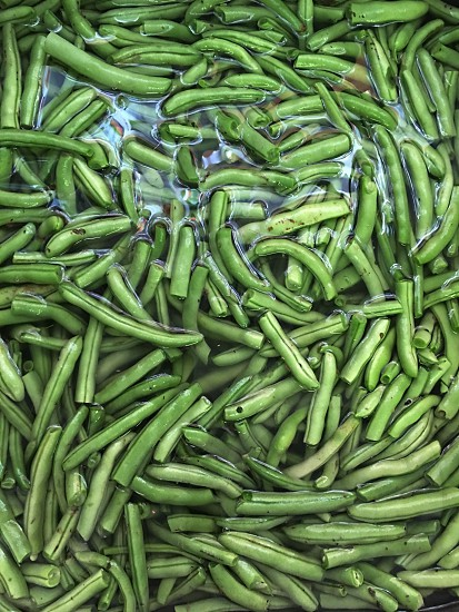 Green beans beans vegetables water healthy produce homegrown green food photo