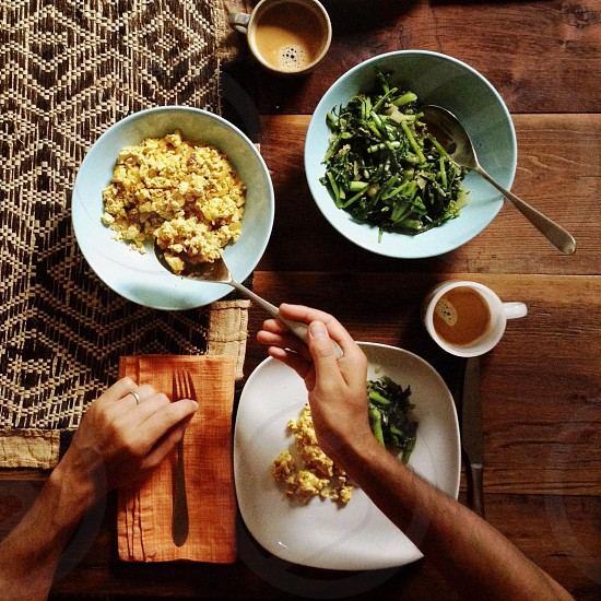 Scrambled tofu & sautéed broccoli rabe photo