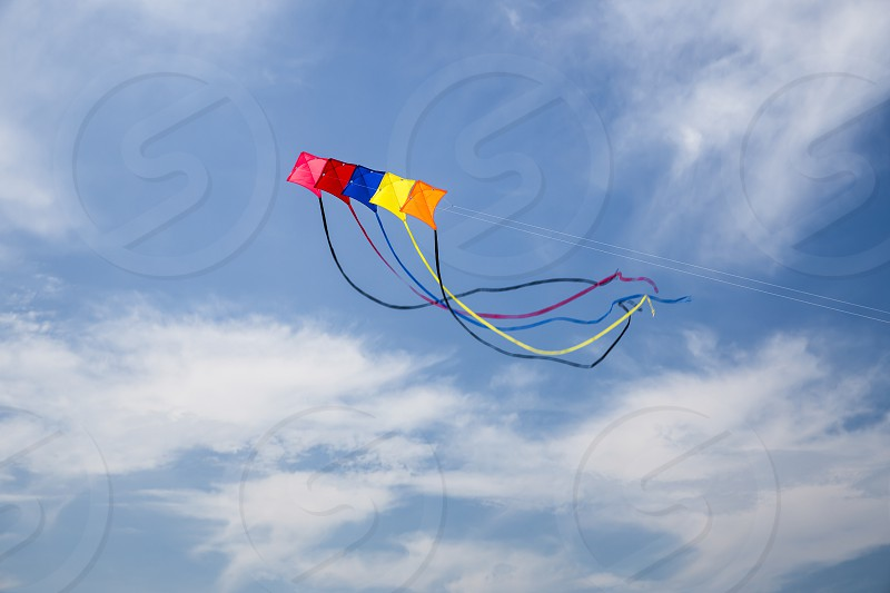 Colorful Kites on a beautiful summer sky   photo