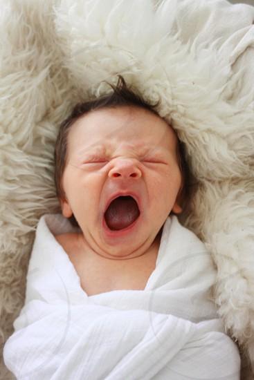 baby yawning photo