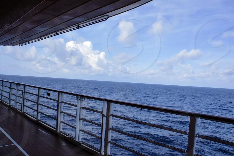 Sailing aboard a cruise ship in the Caribbean photo